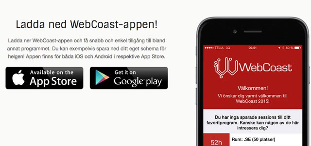 WebCoast app